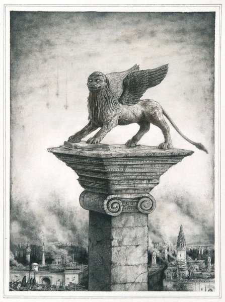 Sverre Malling · Lion of Saint Mark · 2013 · 63 x 55 cm