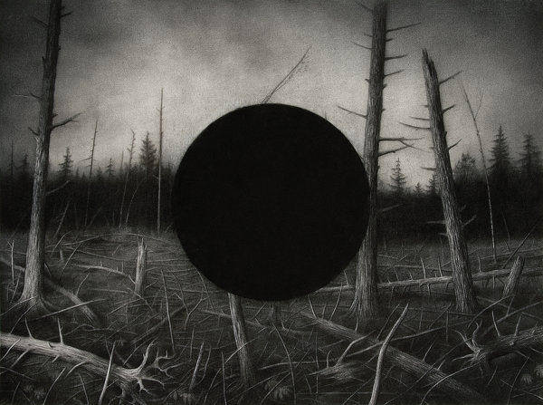 Sverre Malling · Forest, Black Hole · 2007 · 57 x 76 cm