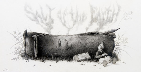 Sverre Malling · Tales from a hollow log # VI (Salt of the Earth) · 2010 · 38 x 56 cm