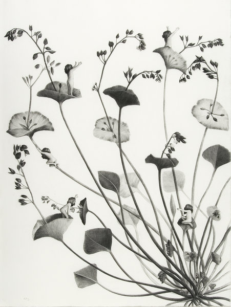 Sverre Malling · Many a blossom shall its leaves unfold #5 · 2007 · 76 x 57 cm